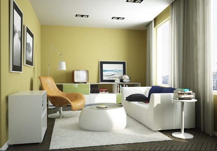 Grünes-Wohnzimmer-Design-Eine-auffällige-Atmosphäre