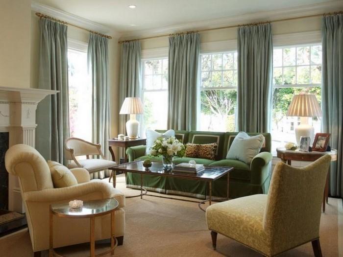 Grünes-Wohnzimmer-Design-Eine-auffällige-Dekoration