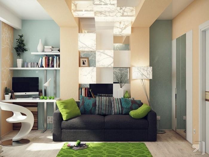 Grünes-Wohnzimmer-Design-Eine-kreative-Ausstattung