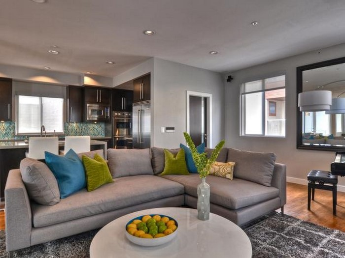 grau grünes wohnzimmer:Grünes Wohnzimmer Design: Wohnzimmer in Grün und Weiß gestalten