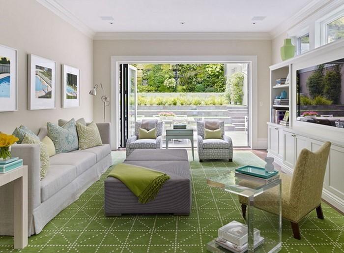 Wohnzimmer Grau Grün: Wohnzimmer farbideen verschidenen ...