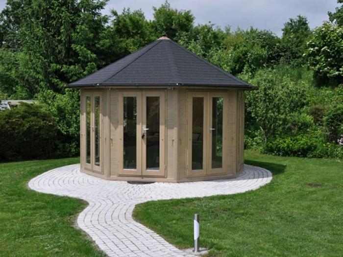 Gartenpavillon aus holz f r jeden garten - Gartenweg holz ...