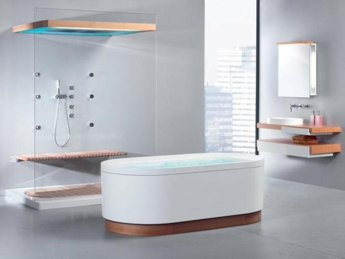 Italienische Dusche Selber Bauen : Minimalistische Badezimmer mit italienischen Fliesen