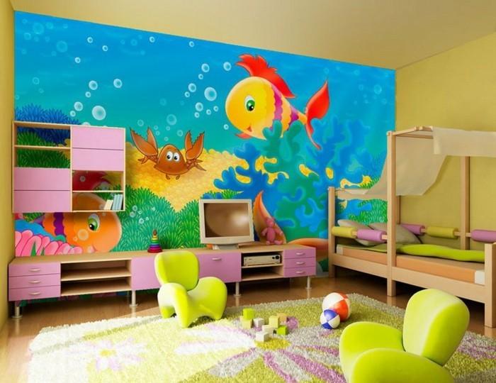 Kinderzimmer-Ideen-Fototapete-mit-Meeresmotive