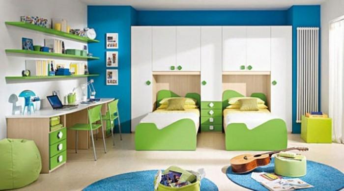 Kinderzimmer-Ideen-grün-und-blau