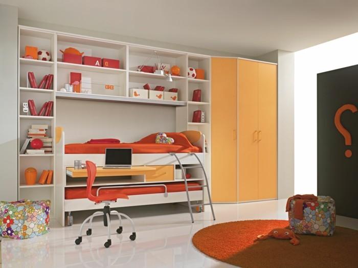 Kinderzimmer-Ideen-in-oranger-Farbe