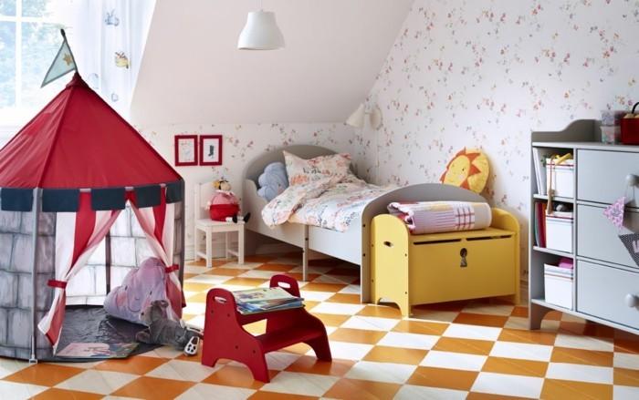 Kinderzimmer-Ideen-mit-einem-Zelt