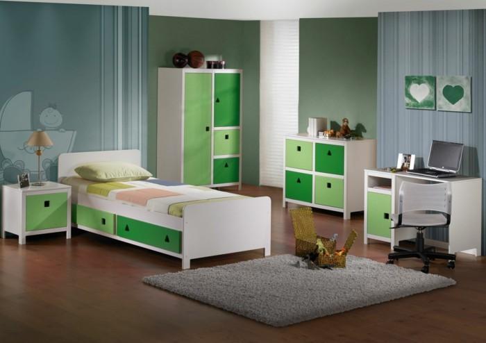 Kinderzimmer-gestalten-mit-Nuancen-von-grün
