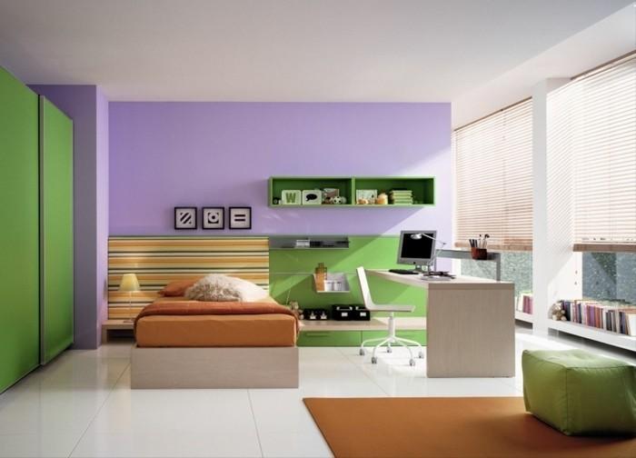 Kinderzimmer-gestalten-mit-lila-Wand