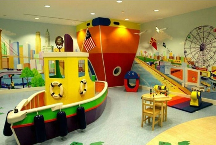 Kinderzimmergestaltung-wie-einen-Fluss-und-Dampfer