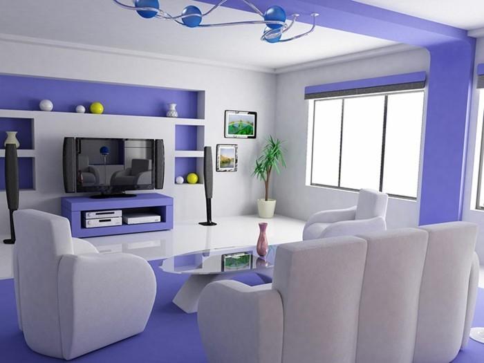Lila-Zimmer-ein-lila-Streifen