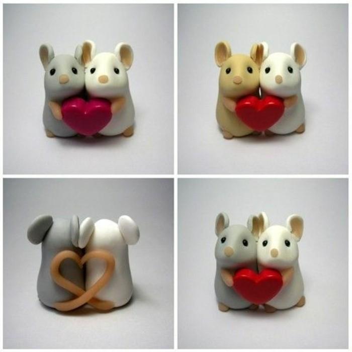 Mäuse-basteln-die-Liebe-vermitteln