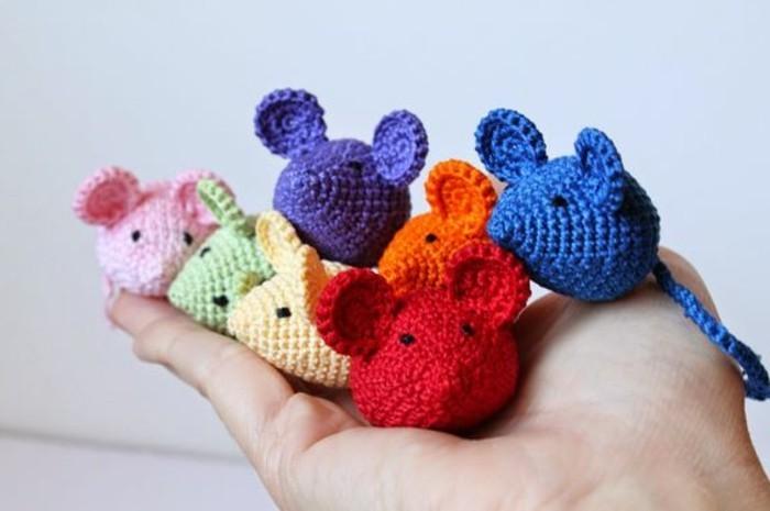 Mäuse-basteln-in-vielen-Farben