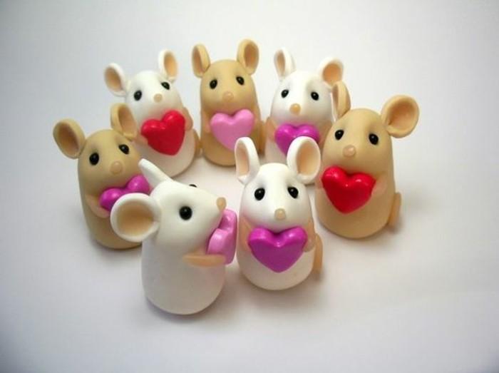 Mäuse-basteln-mit-kleinen-Herzen