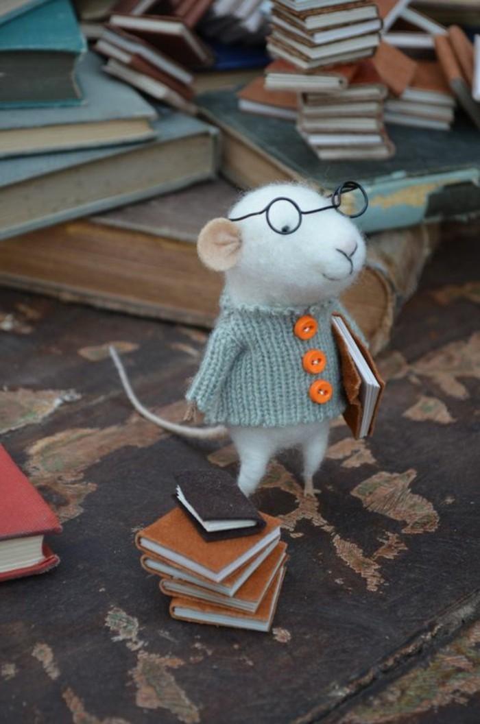 Maus-basteln-mit-kleinen-Büchern