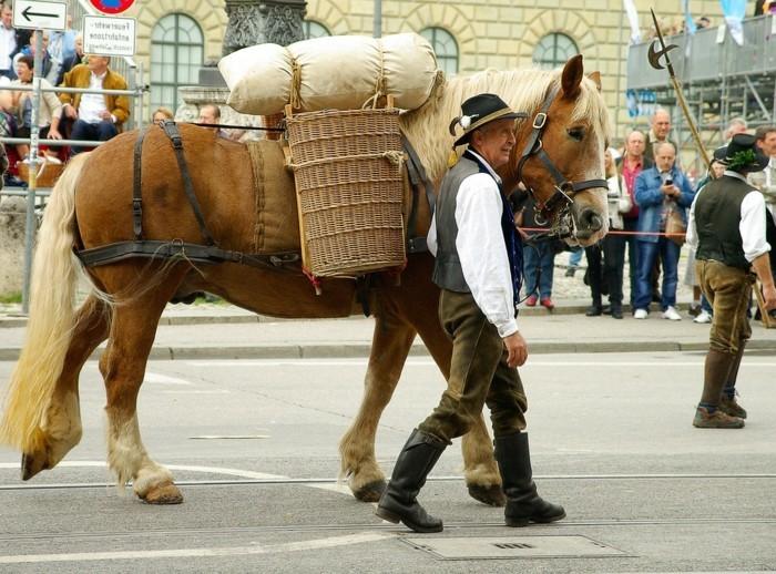 Oktoberfest-München-die-Parade-mit-Pferden