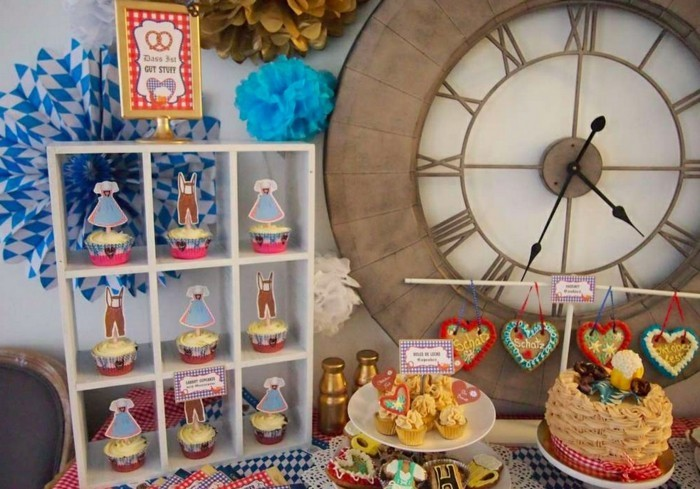 Oktoberfest-Party-Cupcake-und-Lebkuchen