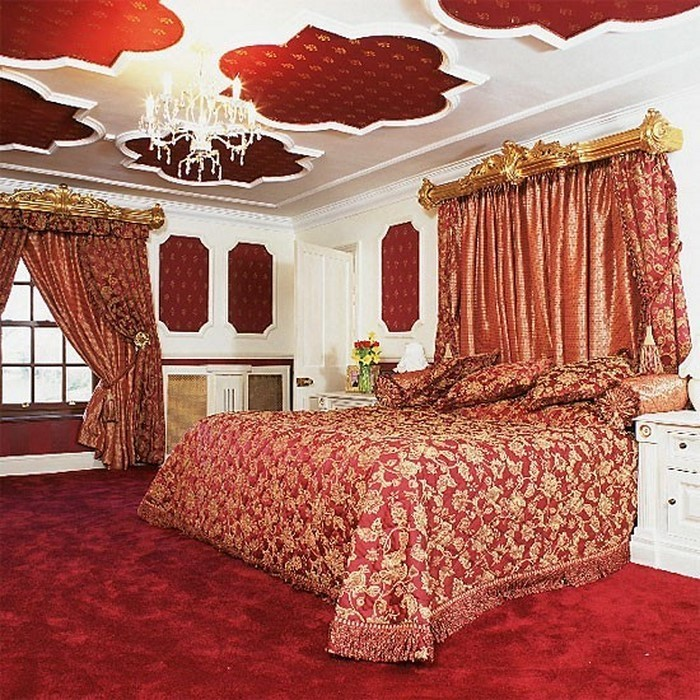 rotes schlafzimmer design: das sinnliche rot