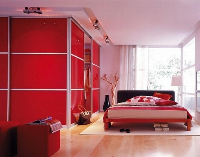 Rotes-Schlafzimmer-Design-Eine-auffällige-Ausstattung