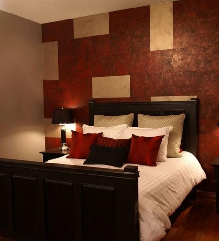 Rotes-Schlafzimmer-Design-Eine-auffällige-Deko