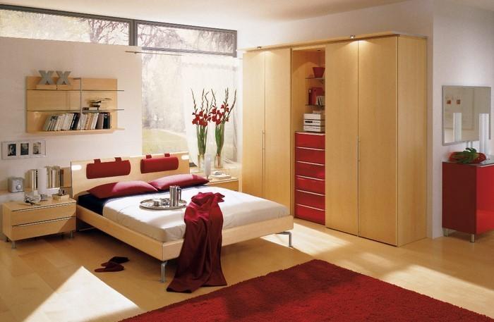 Rotes-Schlafzimmer-Design-Eine-auffällige-Gestaltung