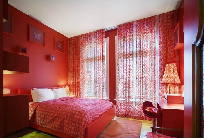 Rotes-Schlafzimmer-Design-Eine-coole-Deko