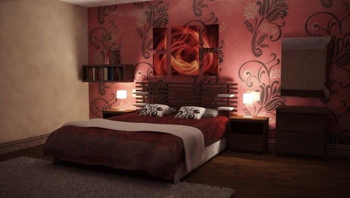 Rotes-Schlafzimmer-Design-Eine-coole-Gestaltung