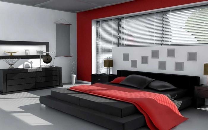 Rotes-Schlafzimmer-Design-Eine-kreative-Dekoration