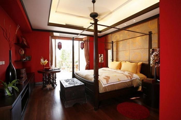 Rotes-Schlafzimmer-Design-Eine-moderne-Gestaltung