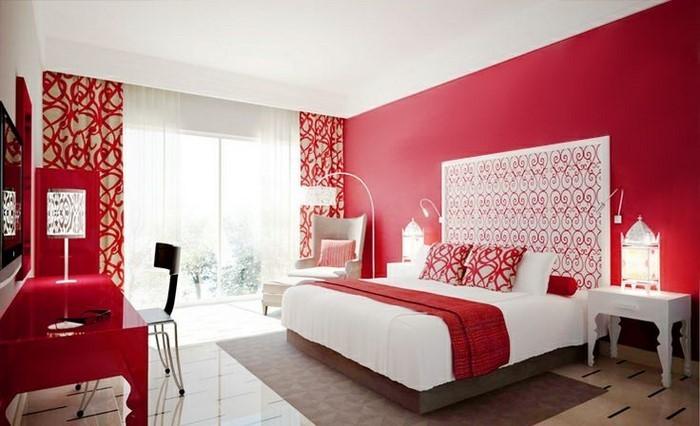 Rotes-Schlafzimmer-Design-Eine-tolle-Deko