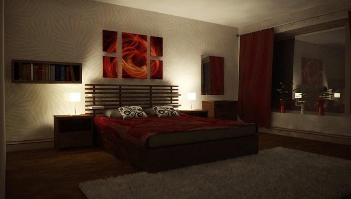 Rotes-Schlafzimmer-Design-Eine-tolle-Dekoration