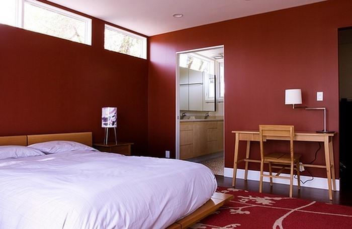 Rotes-Schlafzimmer-Design-Eine-wunderschöne-Deko