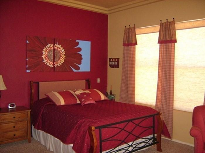 Rotes-Schlafzimmer-Design-Eine-wunderschöne-Dekoration