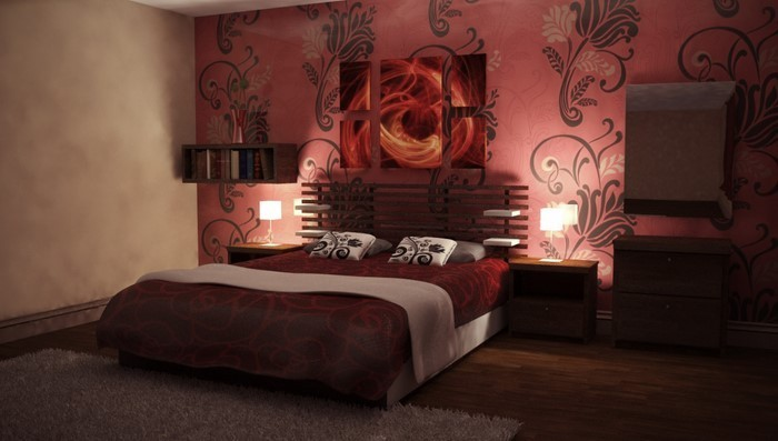 Rotes-Schlafzimmer-Design-Eine-wunderschöne-Gestaltung