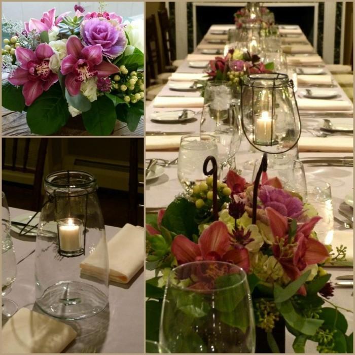 Schöne-Tischdekoration-aus-zwei-Elementen