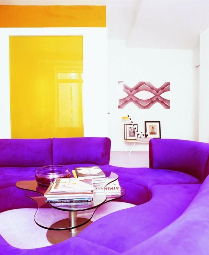 40 ideen wie sie lila zimmer dekorieren for Kleines rundes sofa