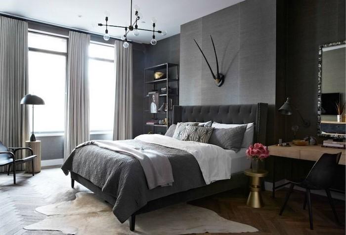 Schlafzimmer-Ideen-mit-Grau-Ein-außergewöhnliches-Interieur