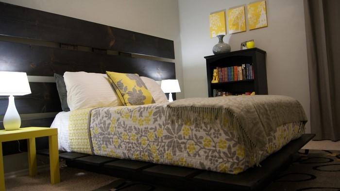 Schlafzimmer-Ideen-mit-Grau-Ein-cooles-Interieur