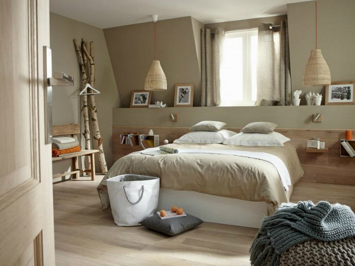 Schlafzimmer-Ideen-mit-Grau-Ein-kreatives-Interieur
