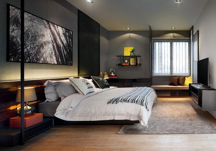 Schlafzimmer-Ideen-mit-Grau-Ein-super-Interieur