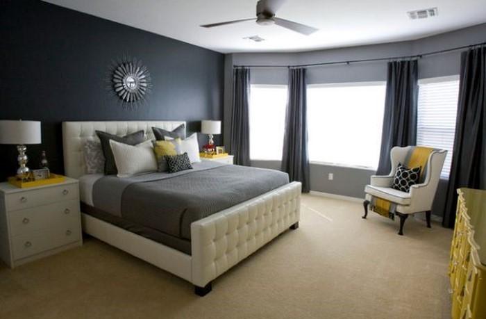 Schlafzimmer-Ideen-mit-Grau-Eine-moderne-Еinrichtung