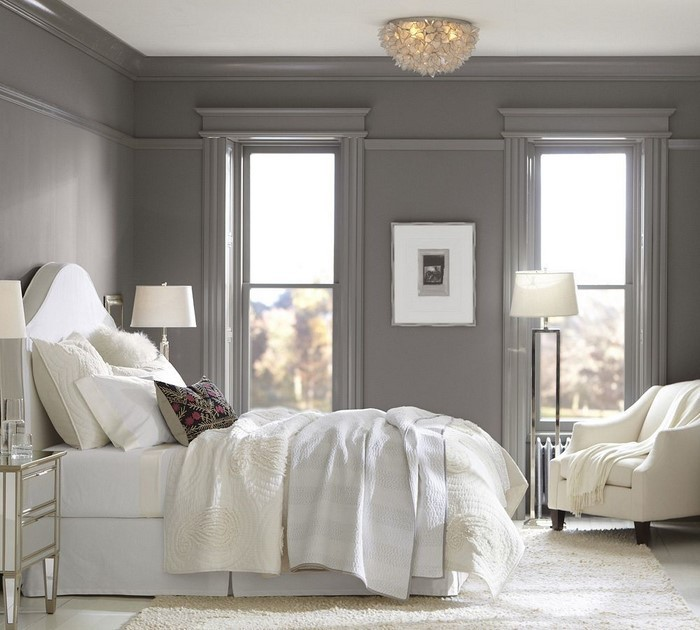 Schlafzimmer Einrichten Ideen Grau : Schlafzimmer einrichten mit Grau ...