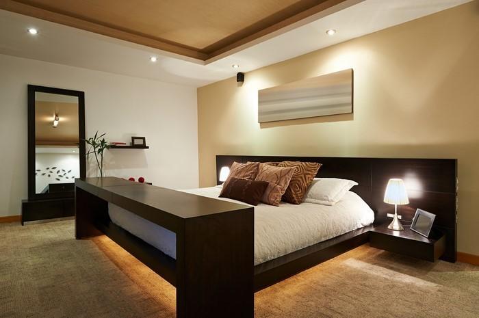 Schlafzimmer Blau Braun: Un Möbel Von Wall Smart Designs Günstig ... Schlafzimmer Gestalten Blau Braun