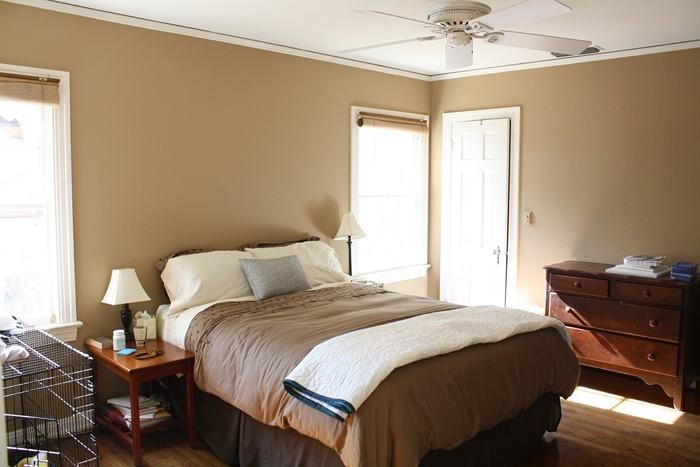 Schlafzimmer-braun-Ein-verblüffendes-Interieur
