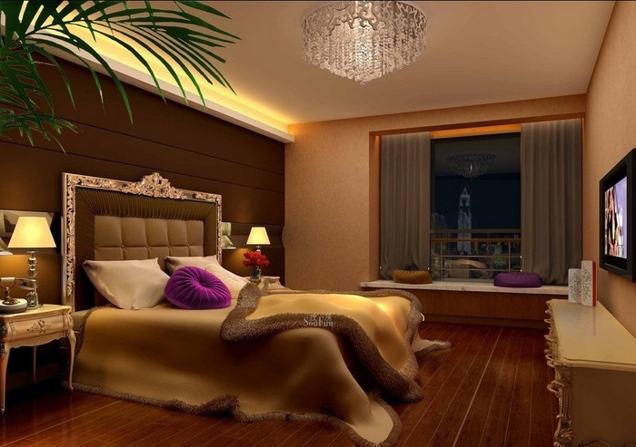 Schlafzimmer-braun-Eine-auffällige-Atmosphäre