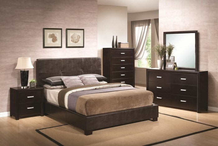 schlafzimmer braun gestalten 81 tolle ideen. Black Bedroom Furniture Sets. Home Design Ideas