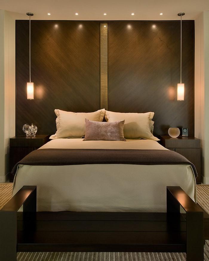 schlafzimmer braun gestalten: 81 tolle ideen - Schlafzimmer Ideen Wandgestaltung Braun