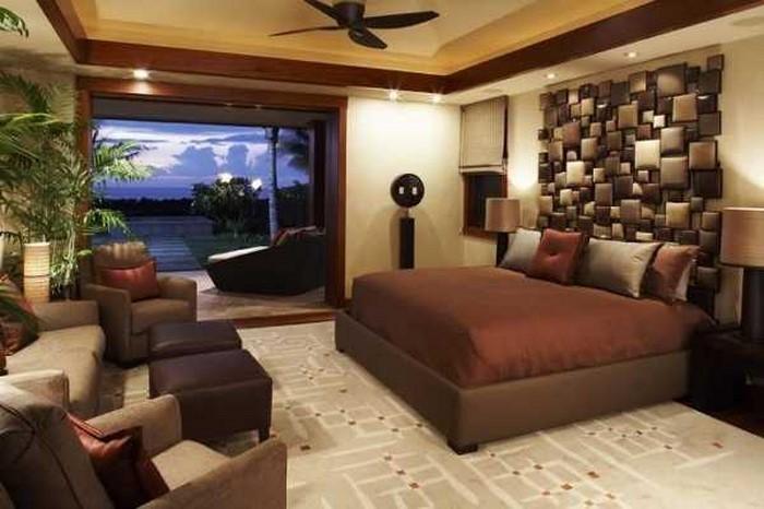 Schlafzimmer ideen braun grün  Schlafzimmer braun gestalten: 81 tolle Ideen