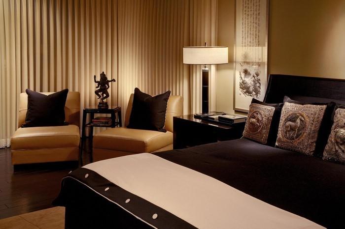 Schlafzimmer-braun-Eine-verblüffende-Ausstattung