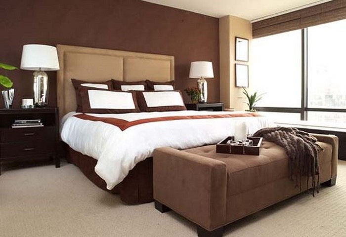 Schlafzimmer-braun-Eine-verblüffende-Ausstrahlung